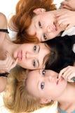 Trois femmes espiègles Image stock