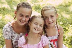 Trois filles Photographie stock
