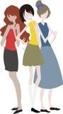 Trois filles Photo stock