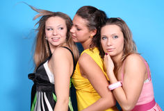 Trois filles Photo libre de droits