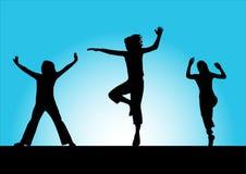 Trois filles de sport Images libres de droits