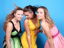 Trois filles heureuses Images libres de droits
