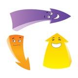 Trois flèches d'émotion illustration libre de droits