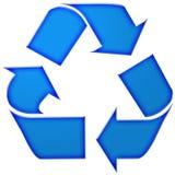 Trois flèches dans la couleur bleue Images stock
