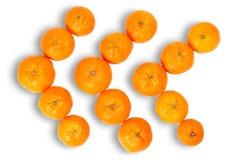 Trois flèches de mandarine Photo stock