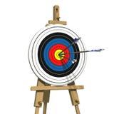 Trois flèches sur une cible de tir à l'arc illustration libre de droits