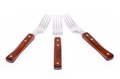 Trois fourchettes Photo stock