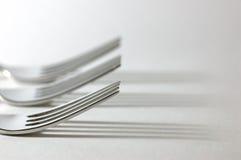 Trois fourchettes Photos stock