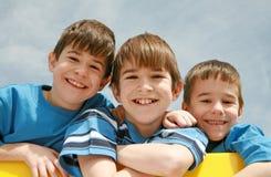Trois frères Photo libre de droits