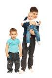 Trois frères heureux Image stock