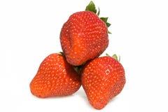Trois fraises Photos libres de droits