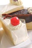 Trois gâteaux de beurre Photos libres de droits