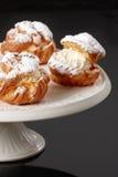 Trois gâteaux frais Image stock