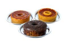 Trois gâteaux traditionnels de Brésilien Images libres de droits