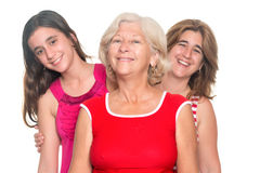 Trois générations de sourire hispanique de femmes Photographie stock libre de droits