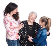 Trois générations des femmes Photo libre de droits