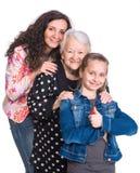 Trois générations des femmes Photos stock