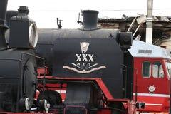 Trois générations des locomotives en gros plan Photo libre de droits