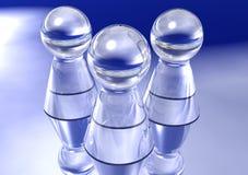Trois gages en verre Images stock