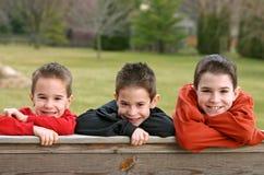 Trois garçons Photo libre de droits