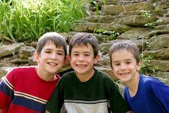 Trois garçons Image stock