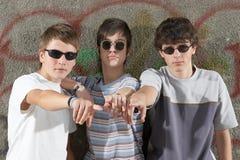 Trois garçons Photos libres de droits