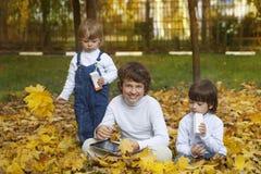 Trois garçons heureux Photo libre de droits