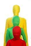 Trois gens colorés Photos stock