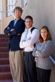 Trois gens d'affaires sérieux. Images libres de droits