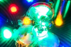 Trois glaces de champagne Image libre de droits