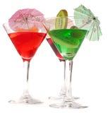 Trois glaces de cocktails Images libres de droits