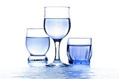 Trois glaces de l'eau Images stock