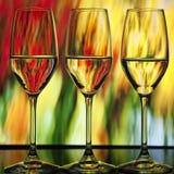Trois glaces de vin illustration libre de droits