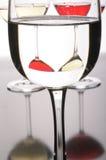 Trois glaces de vin Photographie stock libre de droits