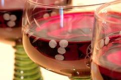 Trois glaces de vin rouge Image libre de droits