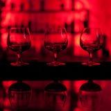 Trois glaces de whiskey Photographie stock
