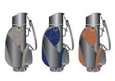 Trois golf-sacs Photo libre de droits