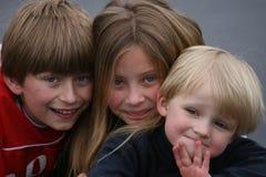 Trois gosses Photos stock