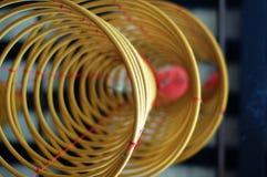 Trois grandes bobines d'encens Photo stock