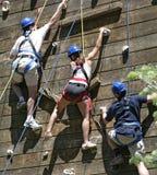 Trois grimpeurs Photos libres de droits