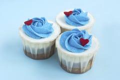 Trois groupes délicieux de gâteau d'amour ensemble Images libres de droits