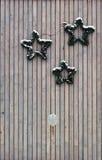 Trois guirlandes simples de Noël de pin Photo stock