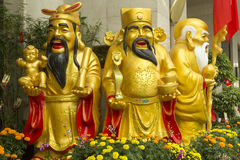 Trois hommes chinois sages Image stock