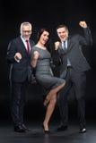Trois hommes d'affaires sûrs Image libre de droits