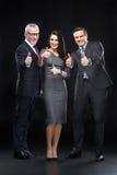 Trois hommes d'affaires sûrs Photographie stock
