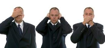 Trois hommes d'affaires sages Image libre de droits