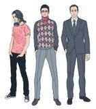 Trois hommes de différents âges illustration de vecteur
