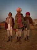 Trois hommes de rajasthani Images libres de droits