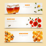 Trois Honey Banner Set illustration libre de droits