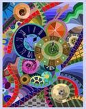 Trois horloges Image stock